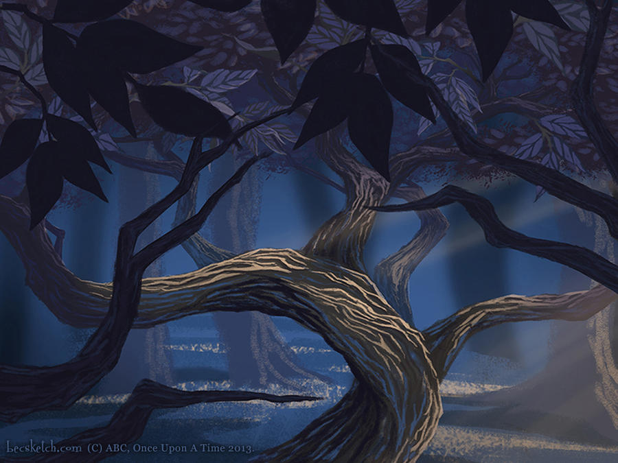 OUAT Fractured Family Tree, Title Card by becsketch