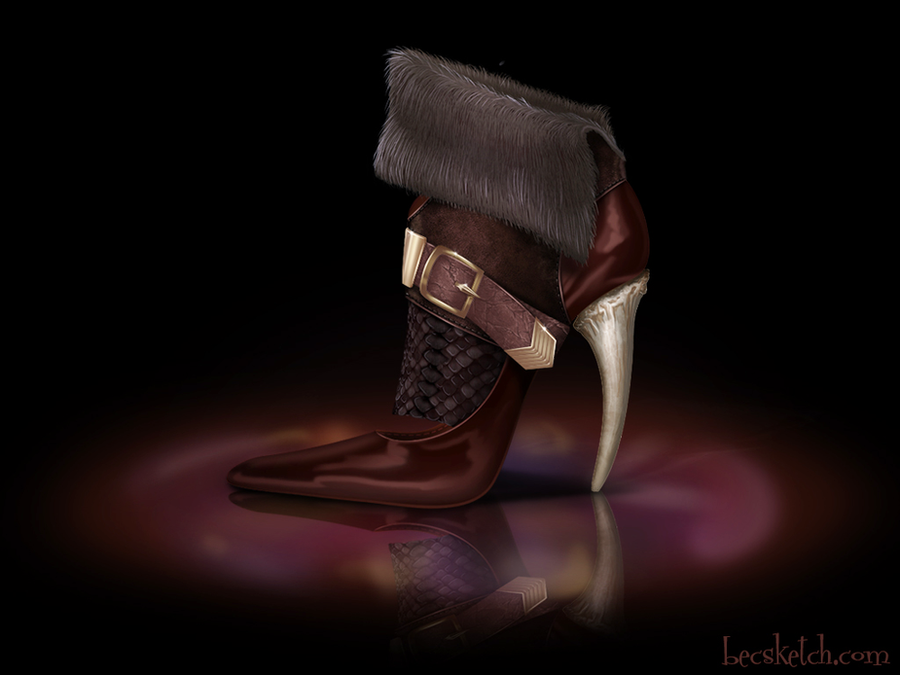 Gaston Inspired Shoe - Disney Sole by becsketch
