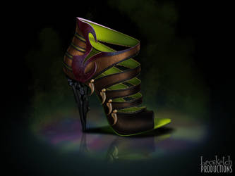 Scar Inspired Shoe - Disney Sole by becsketch