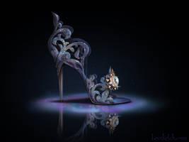 Cinderella (Again) Inspired Shoe - Disney Sole by becsketch