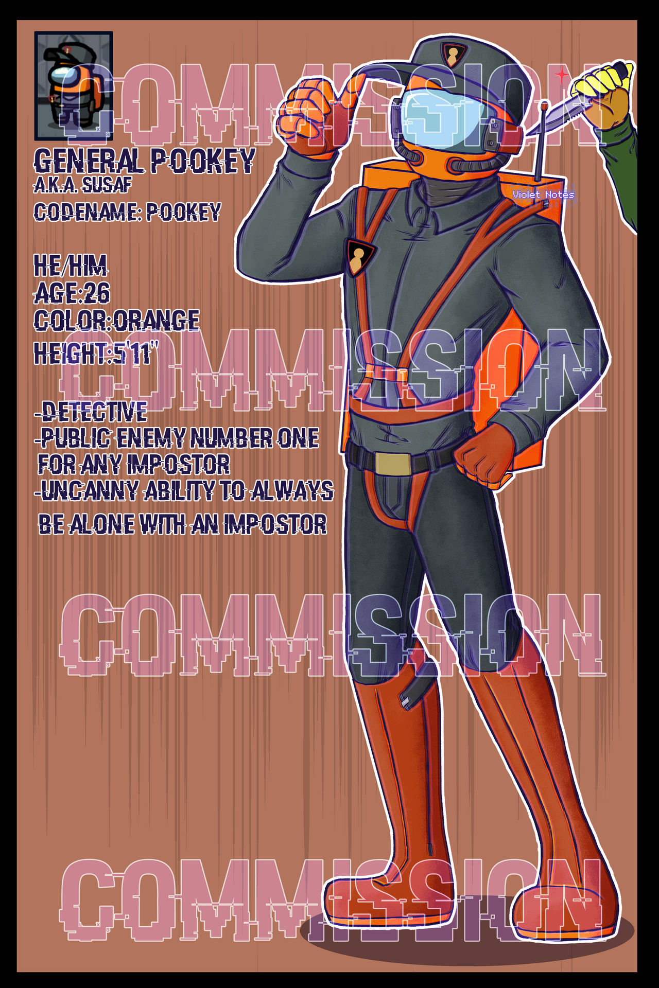Among Us Pookey Commission By Violet Notes On Deviantart