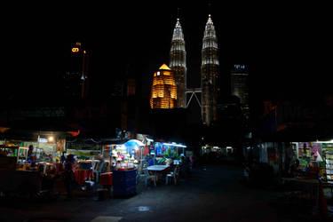 Kampung Baru at night - Kuala Lumpur