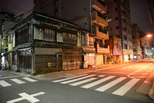 A deserted house in the street - Tokyo