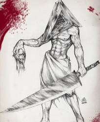 PYRAMID HEAD  WRNNG MORBIDITY by WadeVesecha