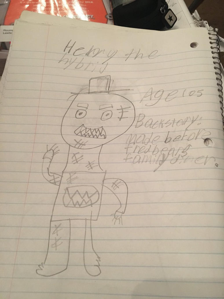 My horrible FNAF OC by Cancerousart