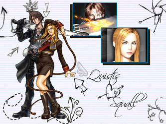Squall and Quistis wall by NobodynumXIV