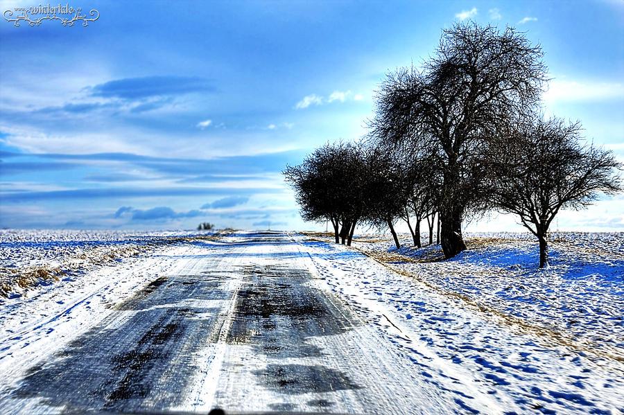winter road by Wintertale-eu