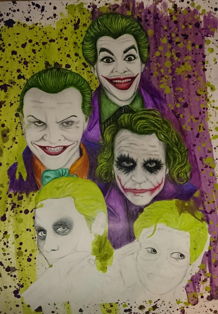 Evolution of the Joker WIP  by PennyWise3368