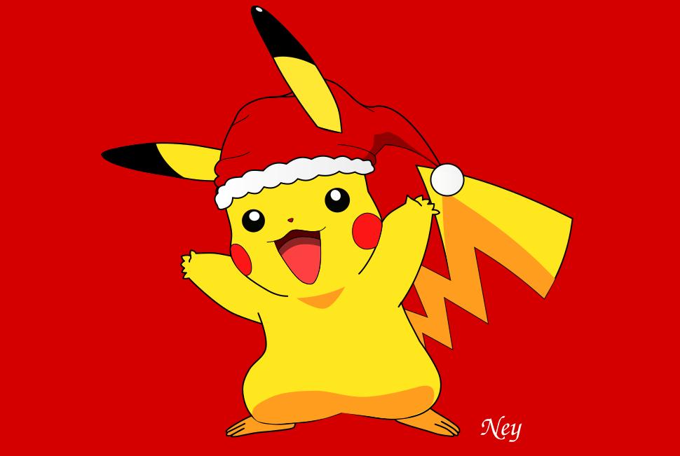 Christmas Pikachu by Nehimy