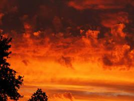Dusk clouds closeup.