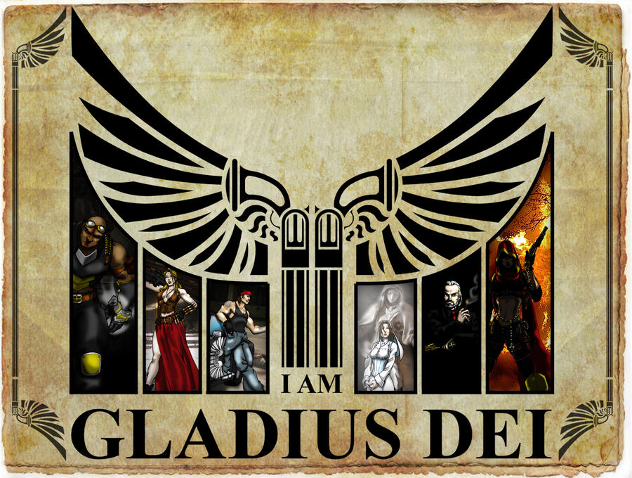 I am Gladius Dei:Characters by Dalilean