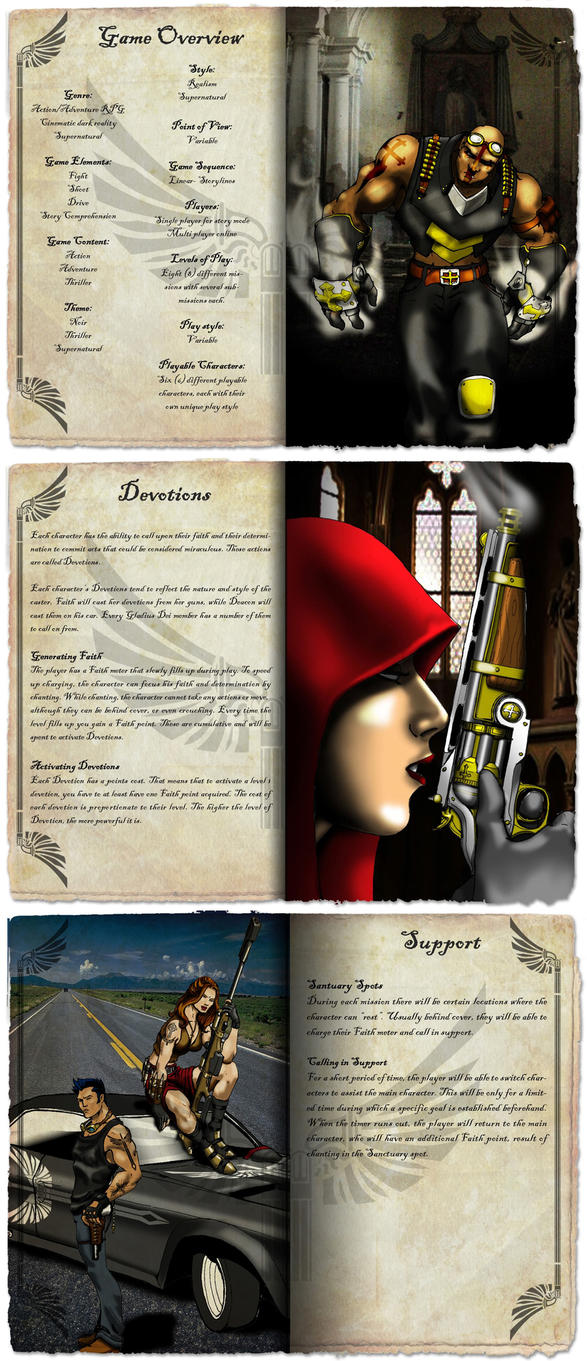 Sample pages with images by Dalilean