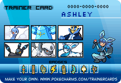 MY Trainer card :3 by AshleyShiotome