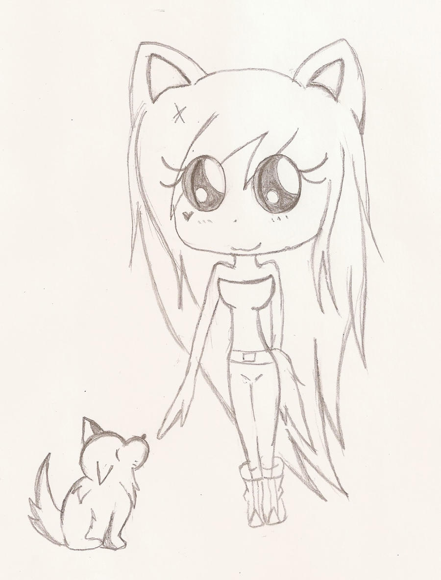 my own baby wolf nawww by AshleyShiotome