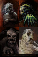Monsters concept sketches