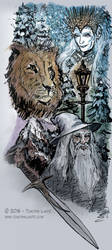 Narnia / Lord of the Rings sidebar illo by archeon