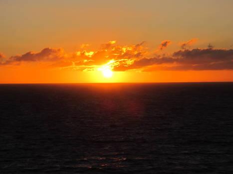 Sunset on the ocean 1