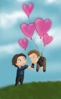 NOT JUST HEART SHAPED BALLOONS by rainbowties