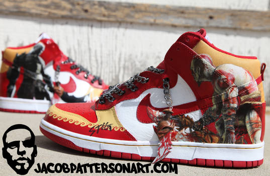 Kratos Kicks - left by PattersonArt