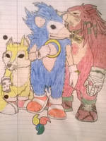 Sonic, knuckles and Tails by ChrisMCampbell