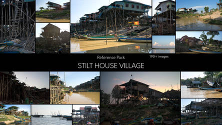 Stilt House Village - Reference Pack by SkoldArt