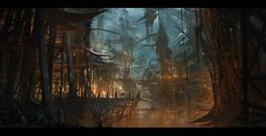 Goblin Stronghold by SkoldArt