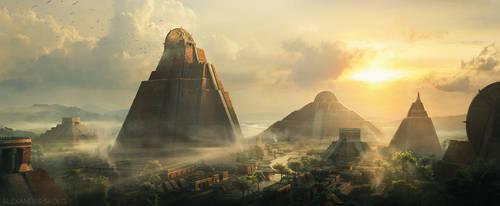Aztec Empire by SkoldArt