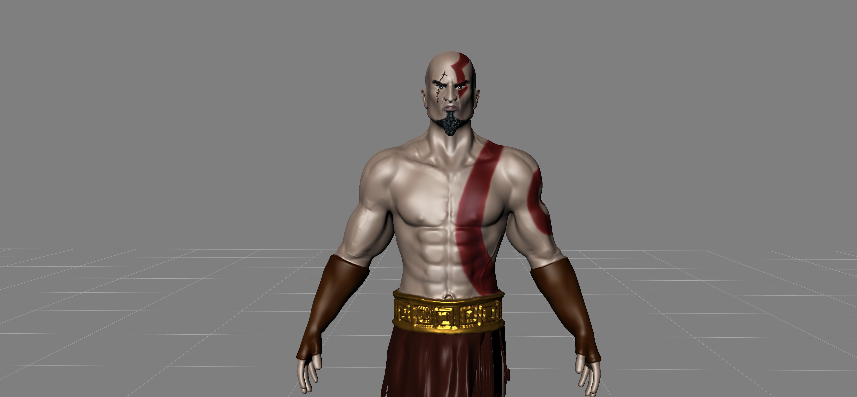 Kratos 3d model in mudbox by rahuldanim8or on deviantart for Deviantart 3d models