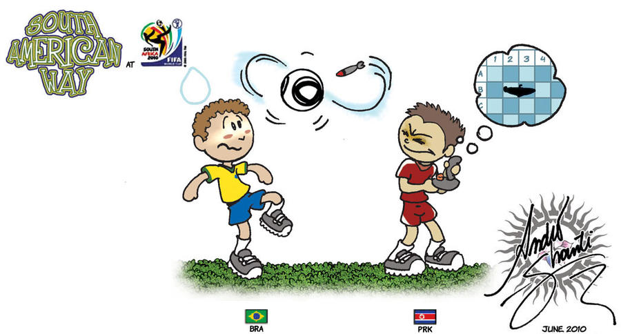 Brazil vs. North Korea by andreshanti