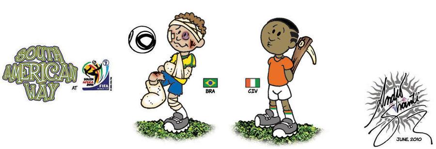 Brazil x Ivory Coast by andreshanti