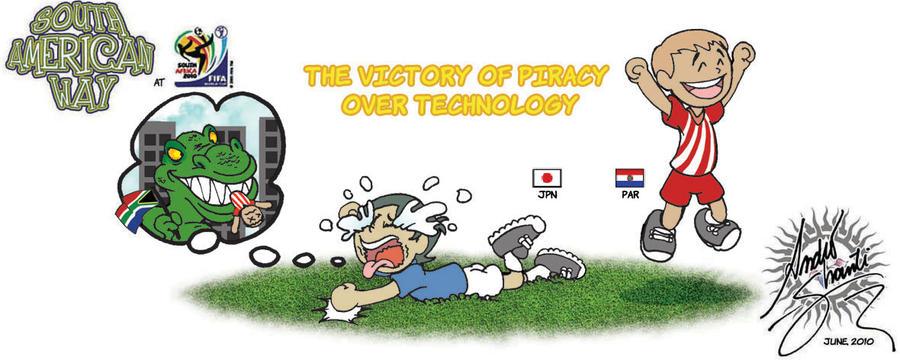 Piracy versus Technology by andreshanti