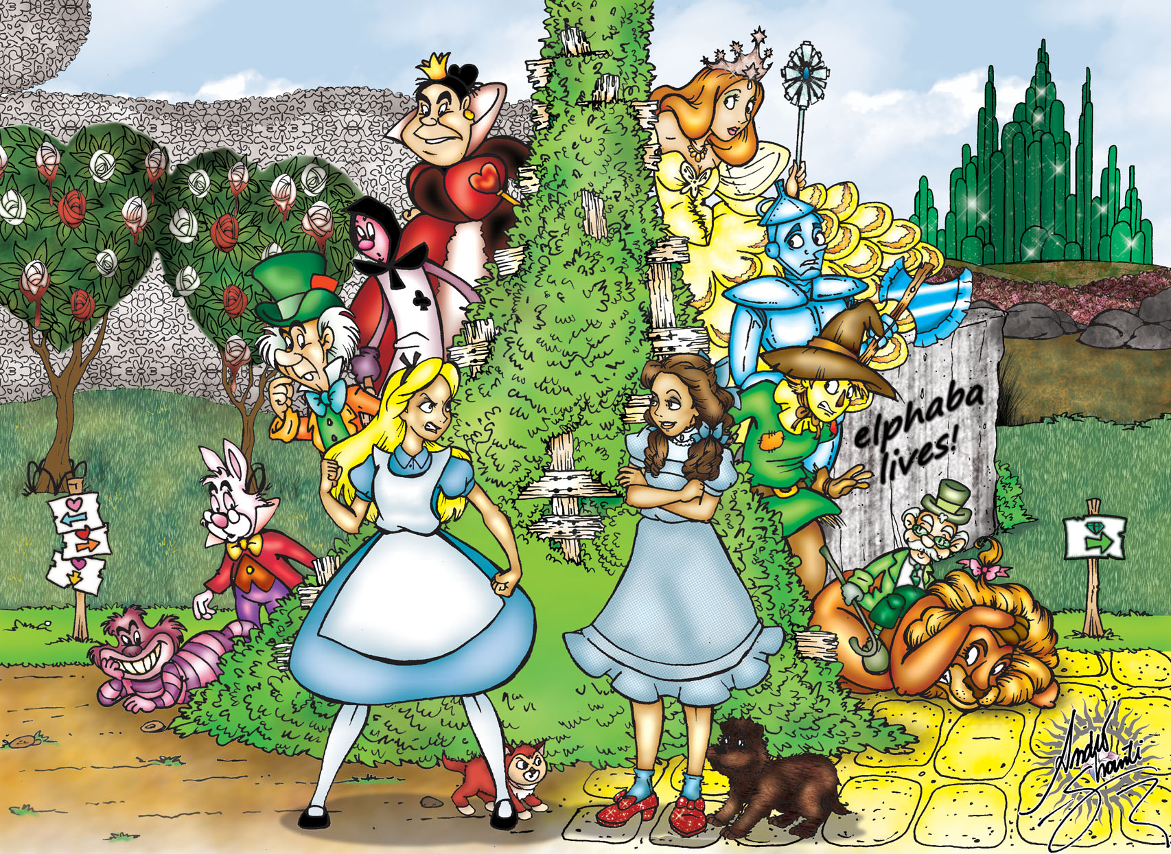 Le Monde Fantastique d'Oz [Disney - 2013] - Page 11 Alice_versus_dorothy_by_andreshanti-d37395u