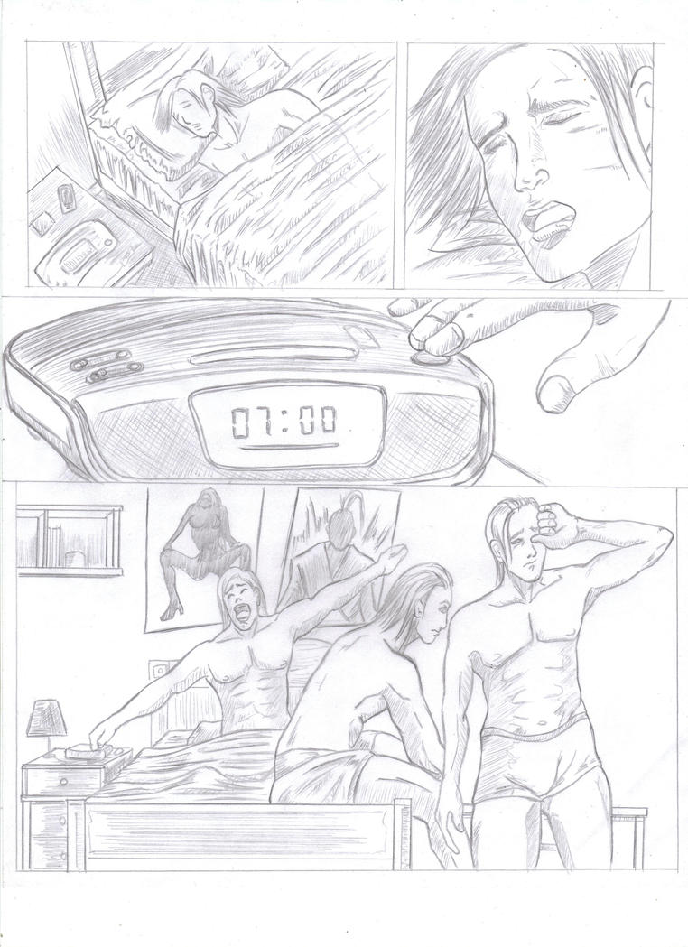 Stresante Comic page pencils preview by soul4rusty