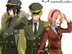 sasuke , naruto y sakura Render
