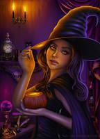 Halloween Witch by nura-des