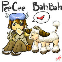 PeeCee and BahBah by LordThanatos
