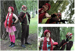 Psychonauts Raz and Lili cosplays by Possumato