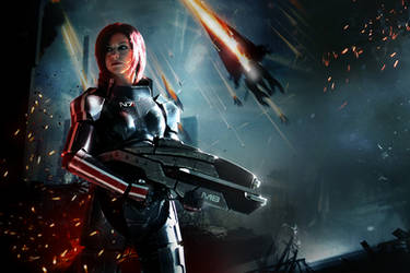 Commander Shepard: Don't fear the Reaper by LittleBlondeGoth
