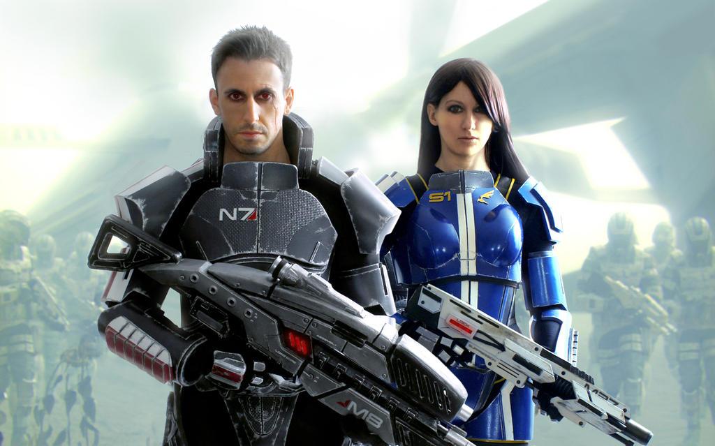 Mass Effect: Take back Earth by LittleBlondeGoth