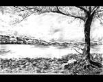 Landscape in pencil
