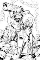Beauty+Robobeast Sample Inks by TomParrish