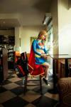 Supergirl at Starbucks