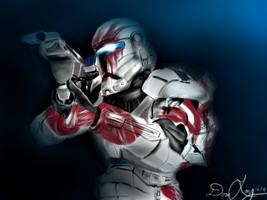 Star Wars: Republic Commando - Delta 07 (Sev) by geekyglassesartist