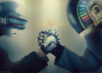 Daft Punk - [Same Team] by geekyglassesartist