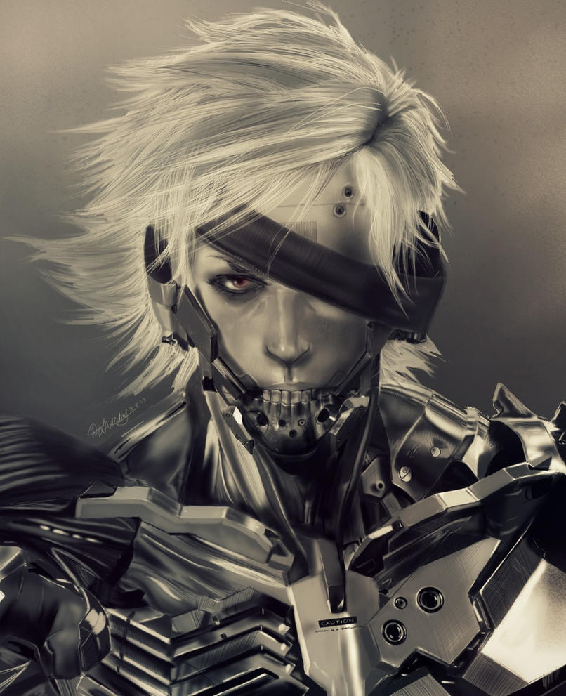 Metal Gear Rising: Revengeance - Raiden by geekyglassesartist