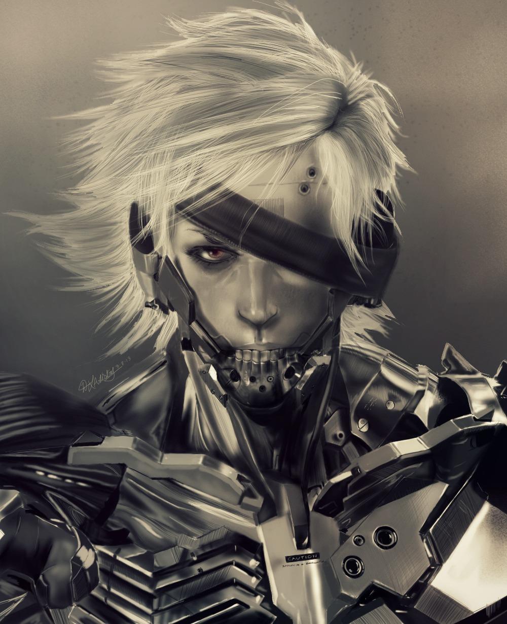 Metal Gear Rising: Revengeance - Raiden by geekyglassesartist