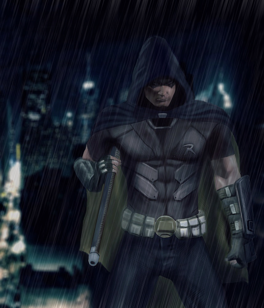 Batman: Arkham City - [Robin] by geekyglassesartist on ...