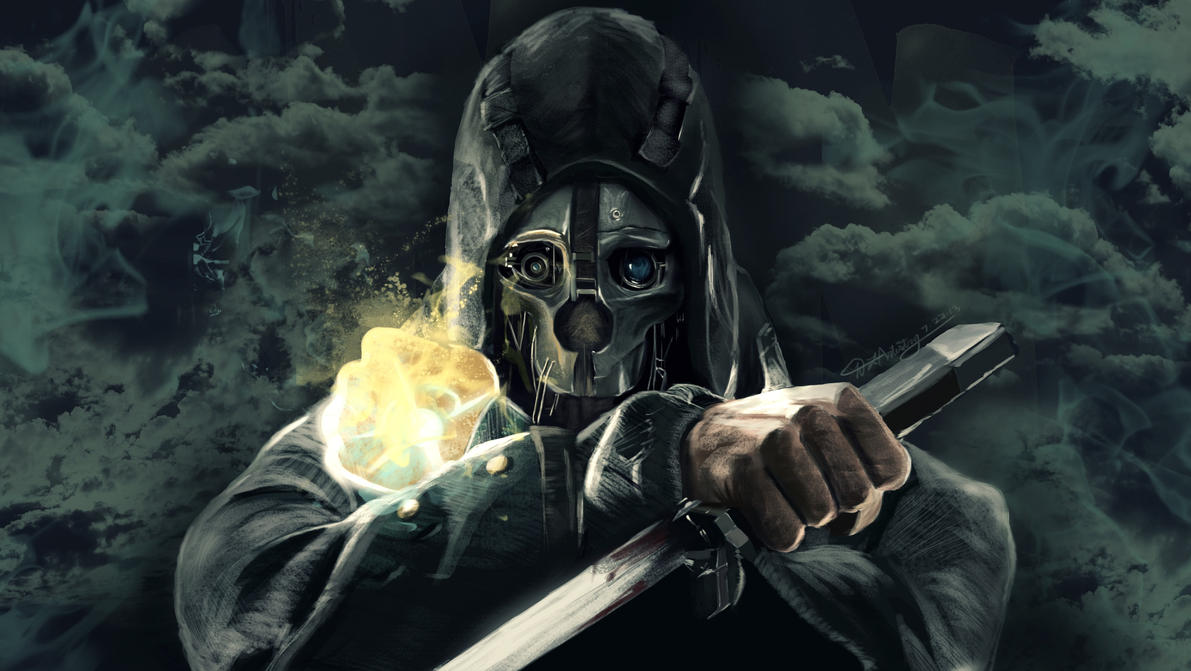 Dishonored Fan Art Corvo Video Games Wallpapers Hd: Corvo Attano Painting By Geekyglassesartist