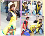 Cosplay Red Trainer and Yellow trainer