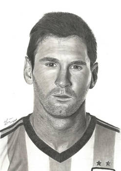 Lionel Messi pencil drawing
